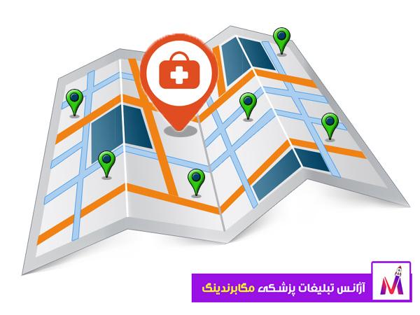 نمایش نقشه روی گوگل مپ